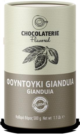 Chocolaterie Σοκολάτα ρόφημα γεύση φουντούκι gianduia