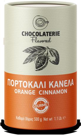 Chocolaterie σοκολάτα ρόφημα γεύση πορτοκάλι κανέλα.